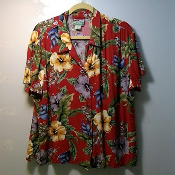 2e20cc53 reyn spooner Tops | Womens Hawaiian Shirt L | Poshmark
